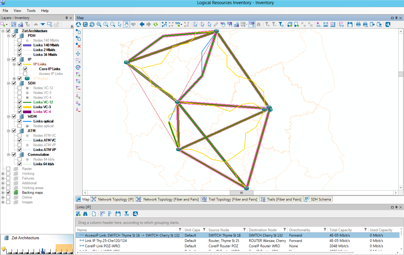 Telecom Network Inventory System: Physical, Logical - Sunvizion